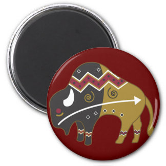 Tribal Indian Buffalo Magnet