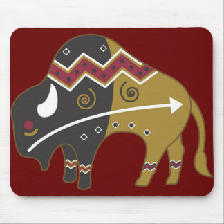 Tribal Indian Buffalo Mouse Pad