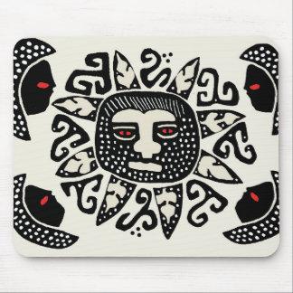 Tribal Indian Sun Spirit Mouse Pad