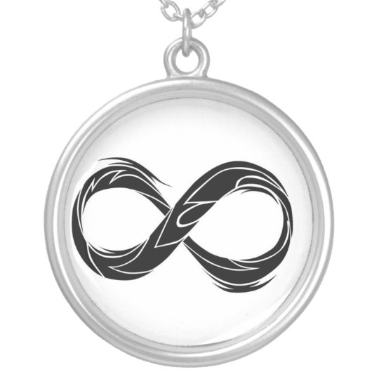 Tribal Infinity Symbol Silver Plated Necklace Zazzle