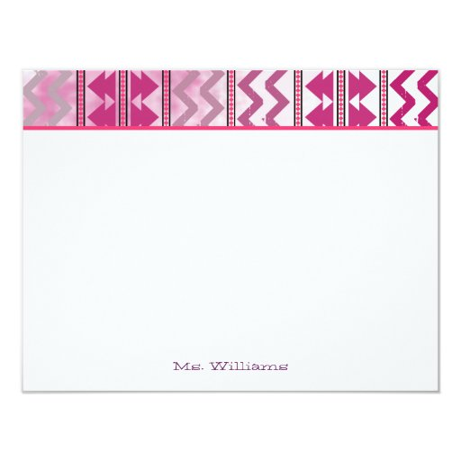 Tribal Inspired Flat Notecards 4.25x5.5 Paper Invitation Card