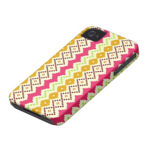 Tribal Inspired i Phone 4 Case-Mate Barely There™ iPhone 4 Case-Mate Cases
