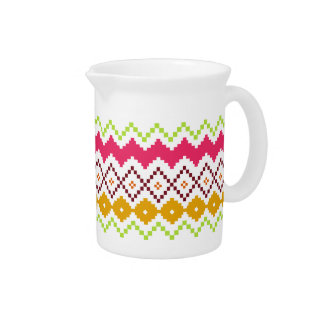 Tribal Inspired Pattern Pitcher