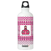Tribal Inspired Personalized Teacher Aluminum Water Bottle