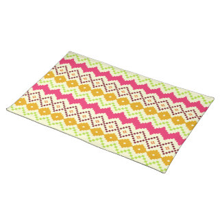 Tribal Inspired Zigzag Place mat Cloth Place Mat