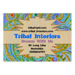 Tribal Interiors 3 Profile Card Large Business Cards (Pack Of 100)