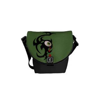 Tribal iris 1 bloodshot messenger bag