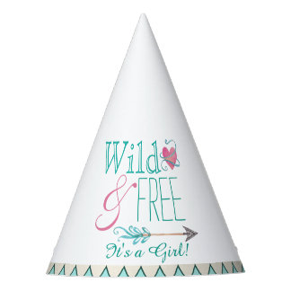Tribal Its a Girl Baby Shower Party Hat
