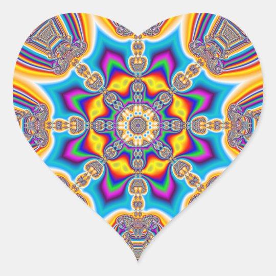 Tribal Jewel Heart Sticker