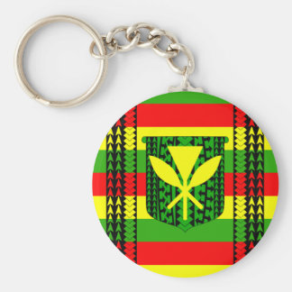 Tribal Kanaka Maoli Flag Keychain