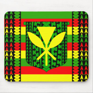 Tribal Kanaka Maoli Flag Mouse Pad