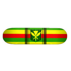 Tribal Kanaka Maoli Flag Skateboard Deck