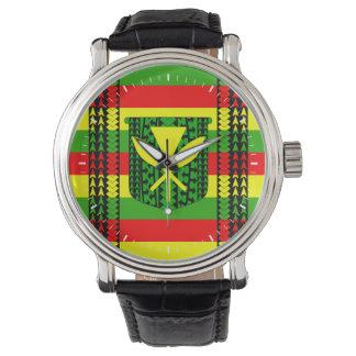 Tribal Kanaka Maoli Flag Wrist Watches