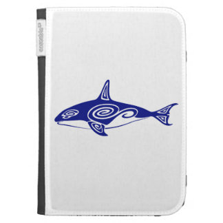 Tribal Killer Whale Kindle Folio Cases