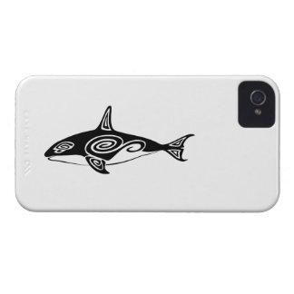 Tribal Killer Whale iPhone 4 Cases