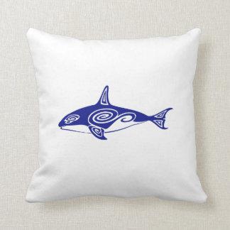 Tribal Killer Whale Throw Pillow