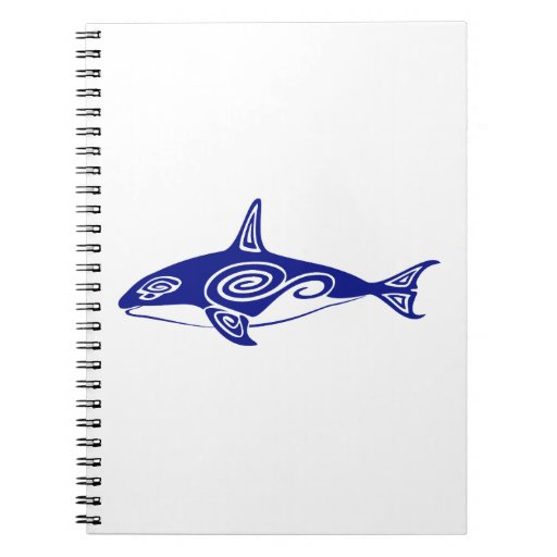 Tribal Killer Whale Spiral Notebook