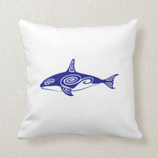 Tribal Killer Whale Throw Pillows