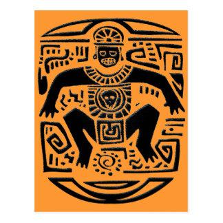 tribal king postcard