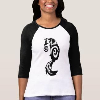 Tribal Kitsune Fox with Spirit Lantern T-Shirt