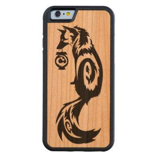 Tribal Kitsune Fox with Spirit Lantern Carved® Cherry iPhone 6 Bumper Case