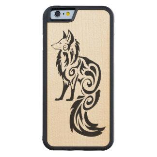 Tribal Kitsune Fox Carved® Maple iPhone 6 Bumper