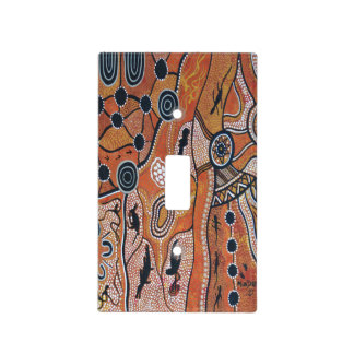 Tribal Land Earth Light Switch Cover