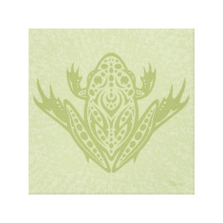Tribal Leopard Frog Canvas Print