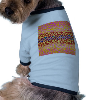 TRIBAL LEOPARD Pink Native Animal Print Painting Dog Tee Shirt