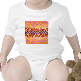 TRIBAL LEOPARD Pink Native Animal Print Painting Rompers