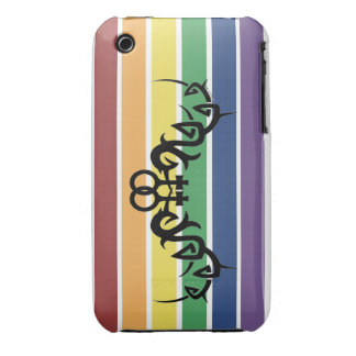 Tribal Lesbian Rainbow iPhone 3 Case