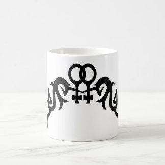 Tribal Lesbian Symbols Mugs