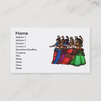 Tribal Line Belly Dancer Business Cards