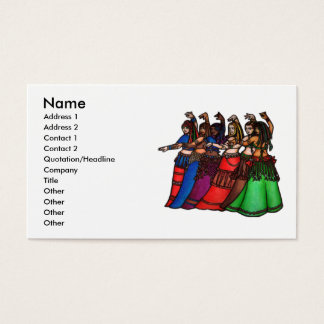 Tribal Line Belly Dancer Business Cards