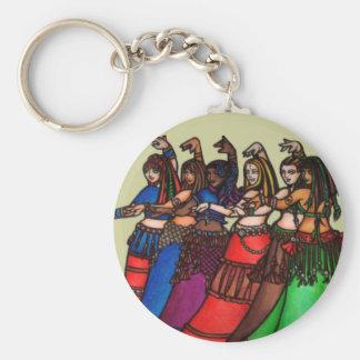 Tribal Line Belly Dancers Key Chain