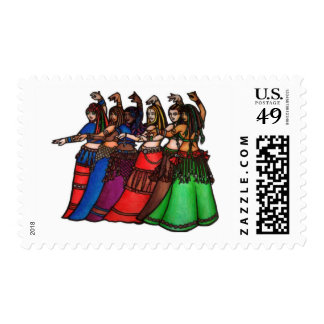 Tribal Line belly dancers Stamps