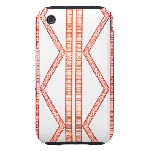 Tribal Lines Red iPhone 3 Tough Cover