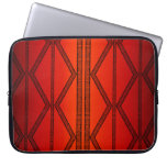 Tribal Lines Red Laptop Sleeve