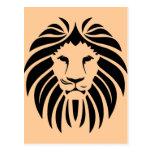 Tribal lion head postales