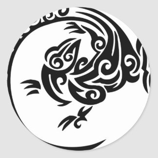 Tribal lizard circle stickers