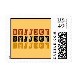 Tribal Look Bassoon Music Gift Postage Stamp