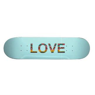 Tribal Love Word Art Skateboard
