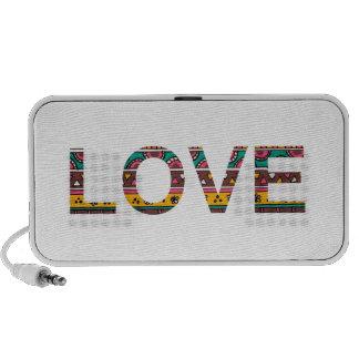 Tribal Love Word Art iPod Speakers