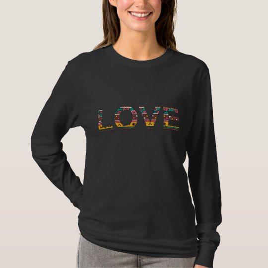 Tribal Love Word Art T-Shirt