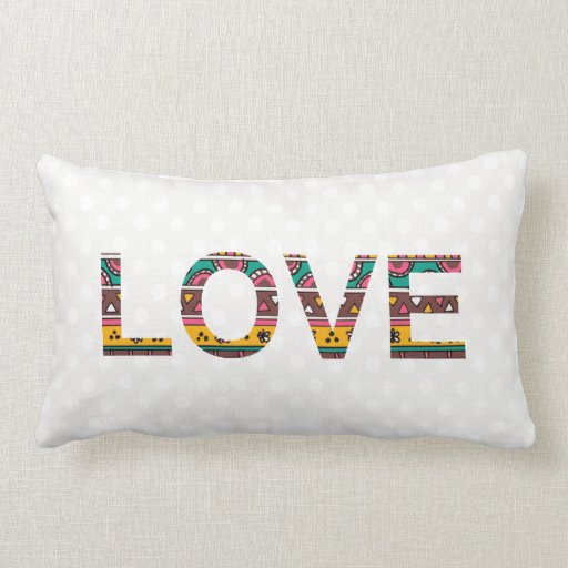 Throw Pillows With Words On Them : Tribal Love Word Art Throw Pillow Zazzle
