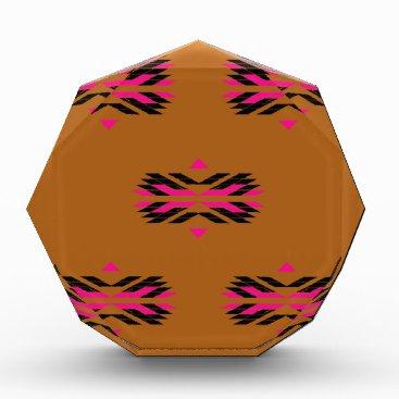 Aztec Themed Tribal luxury pattern Brown / Aztecs Acrylic Award