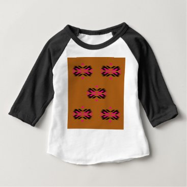 Aztec Themed Tribal luxury pattern Brown / Aztecs Baby T-Shirt