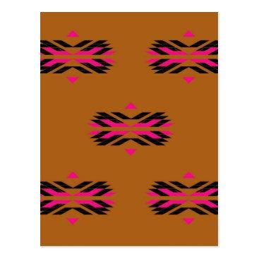 Tribal luxury pattern Brown / Aztecs Postcard