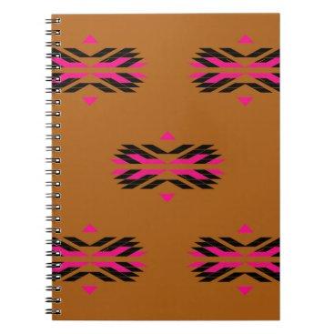 Tribal luxury pattern Brown / Aztecs Spiral Notebook
