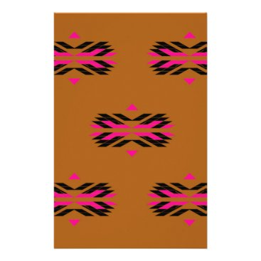 Tribal luxury pattern Brown / Aztecs Stationery